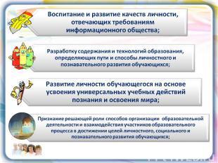 Воспитание и развитие качеств личности, отвечающих требованиям информационного о