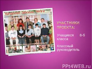 Участники проекта: Учащиеся 8-б класса Классный руководитель