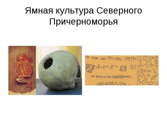 Ямная культура Северного Причерноморья