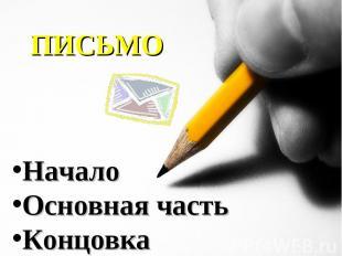 ПИСЬМО НачалоОсновная частьКонцовка