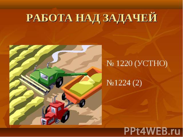 РАБОТА НАД ЗАДАЧЕЙ № 1220 (УСТНО)№1224 (2)