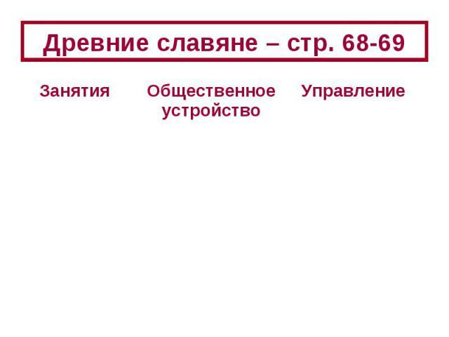 Древние славяне – стр. 68-69