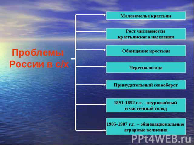Проблемы России в с/х
