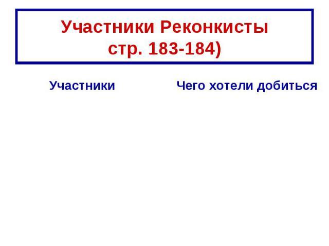 Участники Реконкистыстр. 183-184)