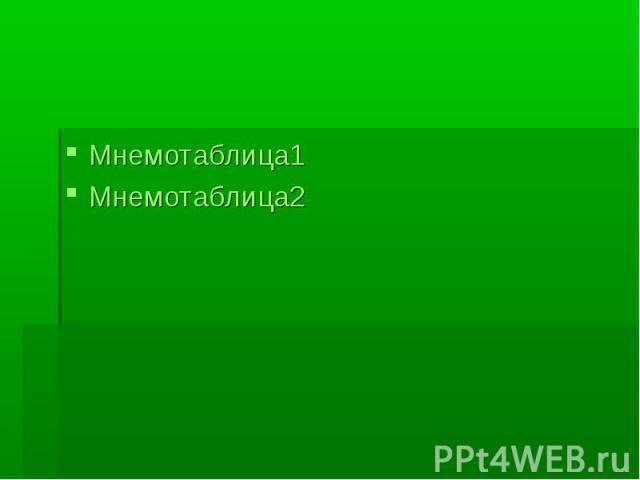 Мнемотаблица1Мнемотаблица2