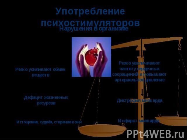 Употребление психостимуляторов