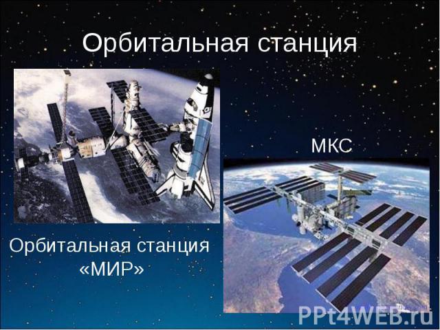 Орбитальная станцияМКСОрбитальная станция «МИР»