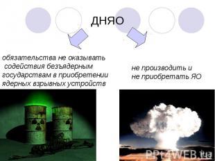ДНЯОобязательства не оказывать содействия безъядерным государствам в приобретени