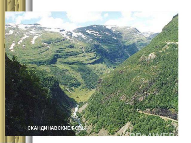 СКАНДИНАВСКИЕ ГОРЫФотогалерея гор.Горы - это части земной поверхности , высоко приподнятые над равниной и сильно расчлененные.