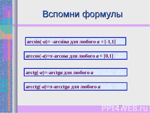 Вспомни формулы