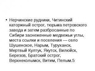 Нерчинские рудники, Читинский каторжный острог, тюрьма петровского завода и зате