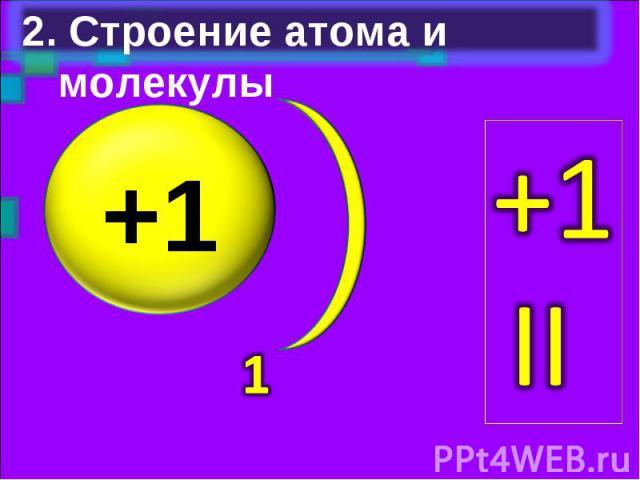 2. Строение атома и молекулы