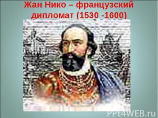 Жан Нико – французский дипломат (1530 -1600)