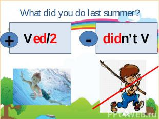 What did you do last summer?