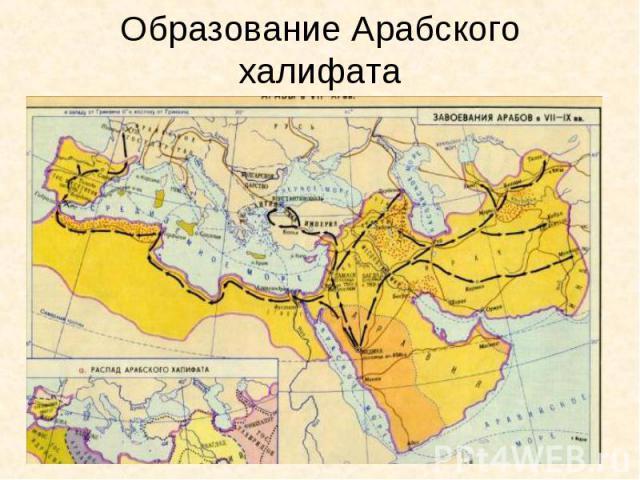 Образование Арабского халифата