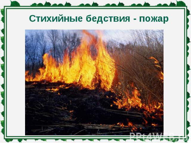 Стихийные бедствия - пожар