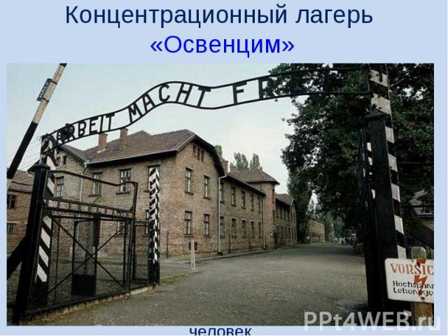 Концентрационный лагерь «Освенцим»