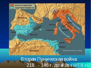 Вторая Пуническая война218 - 146 г. до н. э.