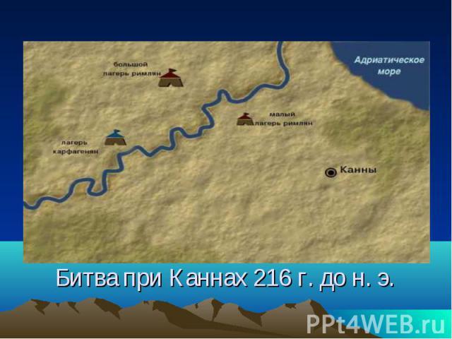 Битва при Каннах 216 г. до н. э.