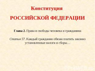 Конституция РОССИЙСКОЙ ФЕДЕРАЦИИГлава 2. Права и свободы человека и гражданинаСт