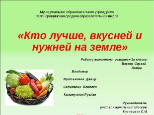 Муниципальное образовательное учреждение Зеленорощинская средняя образовательная