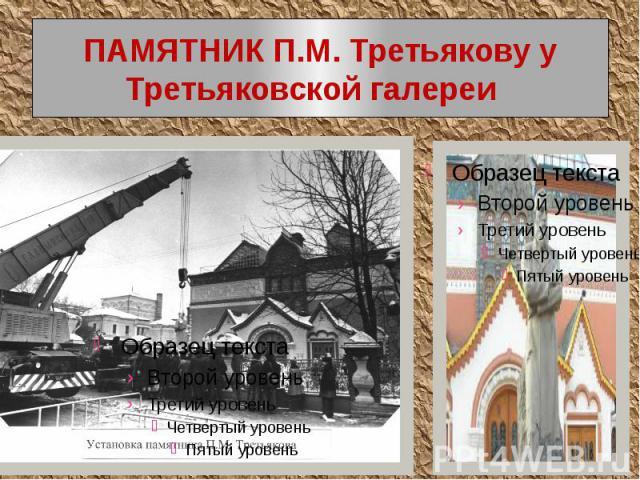 ПАМЯТНИК П.М. Третьякову у Третьяковской галереи