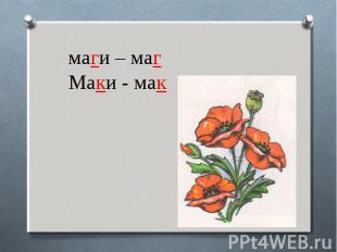 маги – магМаки - мак
