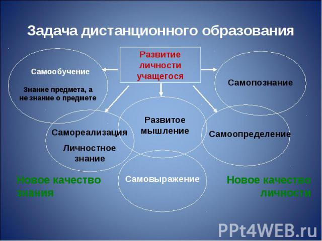 Задача дистанционного образования
