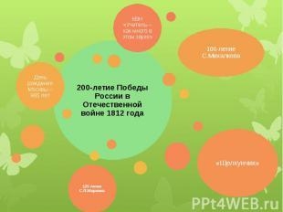 200-летие Победы России в Отечественной войне 1812 года