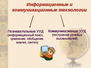 Информационные и коммуникационные технологииПознавательные УУД(информационный по