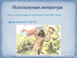 Используемая литература www.vrn-histpage.ru/prehistoric/wayoflife.htmlageancient