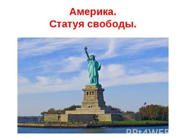 Америка.Статуя свободы.