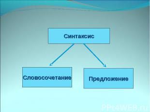 СинтаксисСловосочетаниеПредложение