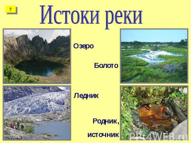 Истоки реки