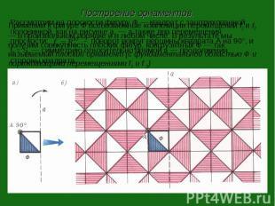 Построение орнаментов.Применим к фигуре Ф всевозможные композиции перемещений f1