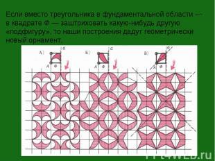 Если вместо треугольника в фундаментальной области — в квадрате Ф — заштриховать