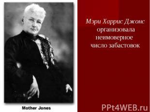 Мэри Харрис Джонс организоваланеимоверное число забастовок