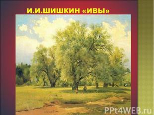 И.И.Шишкин «Ивы»