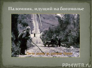 Паломник, идущий на богомолье