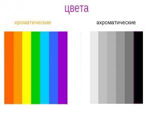 цветахроматические ахроматические