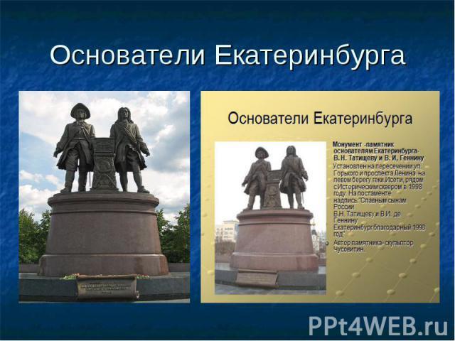 Основатели Екатеринбурга