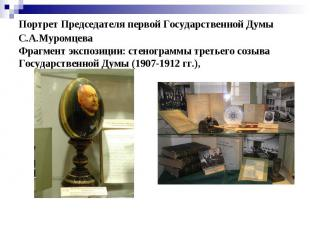 Портрет Председателя первой Государственной Думы С.А.Муромцева Фрагмент экспозиц