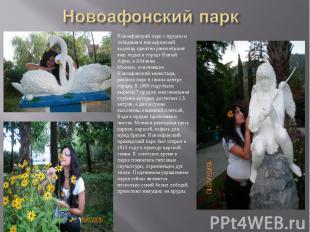 Новоафонский паркНовоафонский парк с прудом и лебедями и новоафонский водопад пр