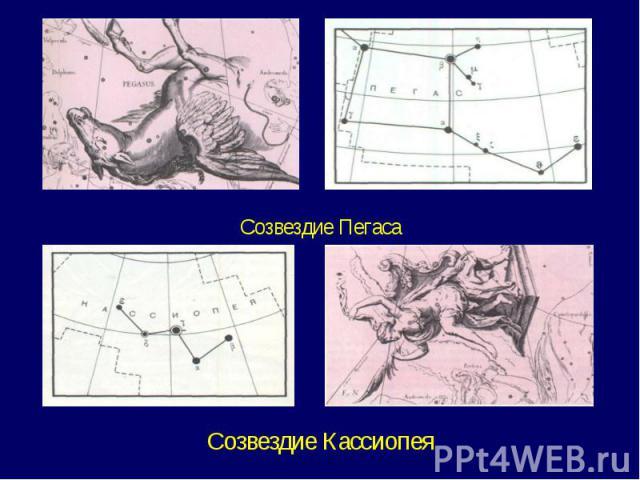 Созвездие ПегасаСозвездие Кассиопея