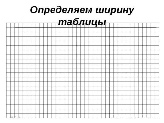 Определяем ширину таблицы