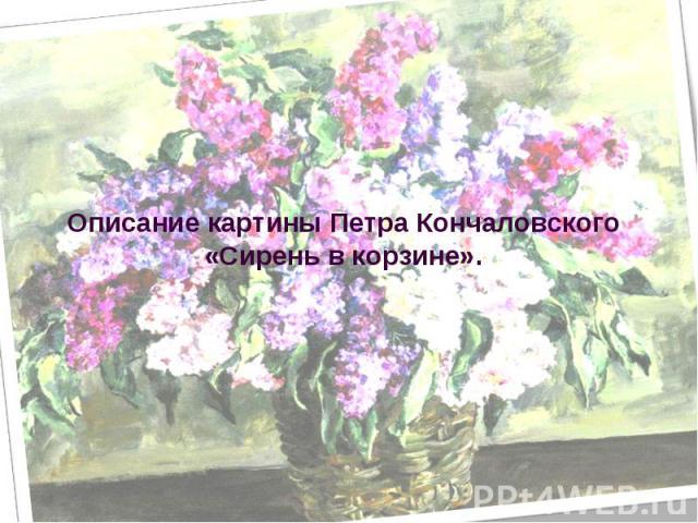 Описание картины Петра Кончаловского «Сирень в корзине»