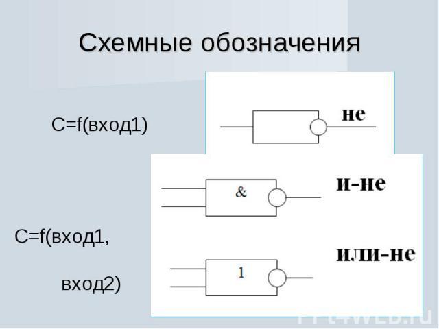 Схемные обозначения