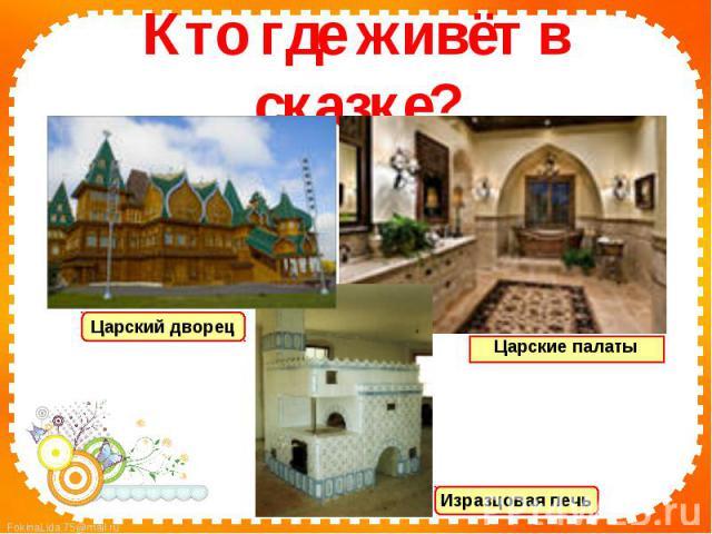 Кто где живёт в сказке?Царский дворецЦарские палатыИзразцовая печь