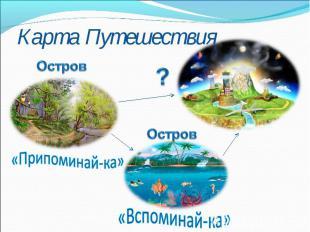 Карта Путешествия«Припоминай-ка»«Вспоминай-ка»