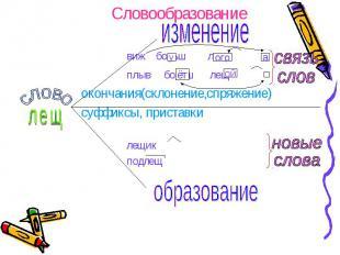 Словообразование изменение виж больш лещ плыв больш лещ окончания(склонение,спря